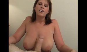 Hot milf with actually large natural wobblers acquires anal and drink the cum