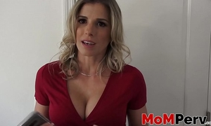 Stepmom cory follow engulfing a large schlong in pov style