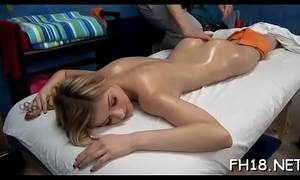 Watch as those cute 18 year old gals receive a surprise pleased ending by their massage therapist!