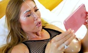 Perfect pov large tit kianna dior gives pov oral-stimulation & acquires hawt facial