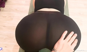 Big butt with leggings, pov oral pleasure and sex - cristall gloss