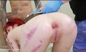 Anal birth - ava little gives birth to kittens out of her butthole