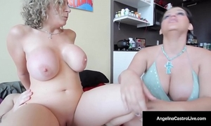 Cuban princess angelina castro copulates & sucks sara jay's stud!