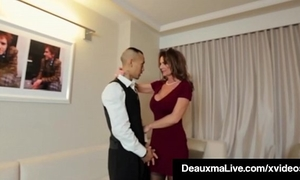 Horny cougar playgirl deauxma bonks room service dude in hotel!