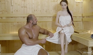 Relaxxxed - hard fuck at the sauna with impressive russian chick angel rush