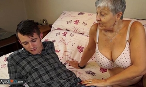 Old white lady savana drilled by student sam bourne