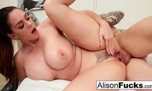 Alison tyler receives cum on her boobs