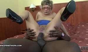 Granny wishes to fuck a large dark wang