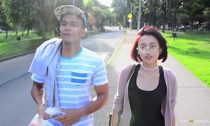 Carne del mercado - colombian legal age teenager luna castillo acquires picked up and drilled hard