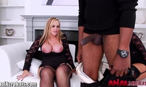 Analacrobats gaping milfs drilled by large dark wang