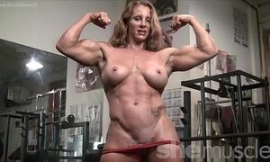 Naked female bodybuilder hawt red headed muscle