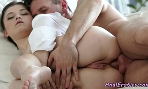 Gorgeous fucked into ass eurobabe enjoys hard 10-Pounder