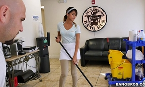 Bangbros - the fresh cleaning housewife swallows a load!