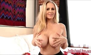 Sexy milf julia ann is a stocking whore!
