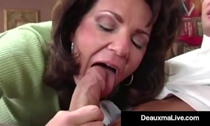 Busty cougar deauxma bonks the tax chap in her abode! oho!