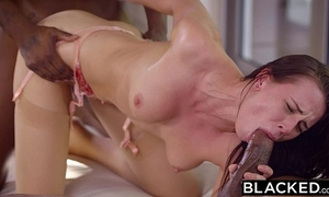 Blacked glamorous student aidra fox takes 2 bbcs