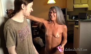 Milf shares panty fetish with youthful chap