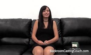 Amateur large cum facial on casting sofa