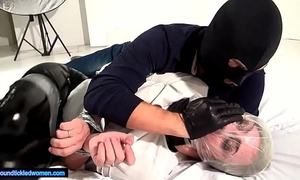 Ammalia handsmothered tied tickled and suffocated by a fellow in balaclava