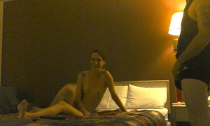 Homemade non-professional BBC slut thagteamed in a hotel 3way with our ally part 1