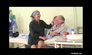 Granny watches old man bonks nurse in hospital