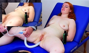 Miss fi takes a giant enema with the hard colon snake