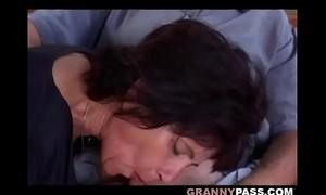 Grandma outdoor anal fucking
