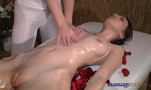 Massage rooms 2 juvenile brunettes acquire oiled up for some sexy lesbo pleasure