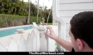 Therealworkout - lewd hotwife bonks the poolboy!
