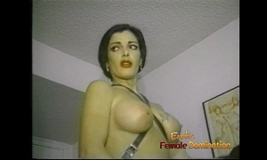 Slim raven-haired stunner makes a lewd chap engulf and ride a strap-on