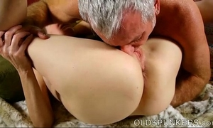 Super slutty old spunker sucks jock whilst fucking her soaking moist vagina