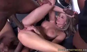 Black large knob interracial