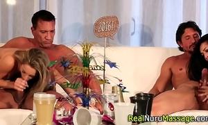 Spunk faced masseuse fuck