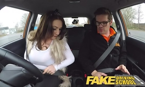 Fake driving school breasty jailbird goes on a wild ride!