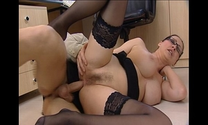Porn star is drilled hard in office -