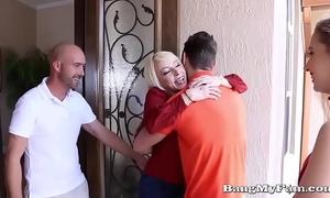 Naughty girlfriend sierra nicole opens her moist cooze for boyfriends papa