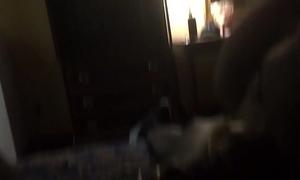 Amateur ebon freak getting wicked with her dad. sloppy head
