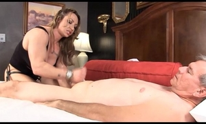 Muscle mistresse brandimae teaches messy old guy lesson #2