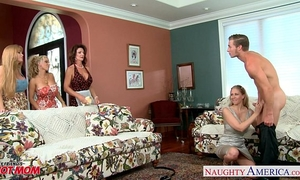 Moms darla crane, holly halston and julia ann sharing rod