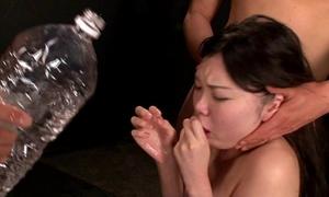Girl compulsory mouth gagging and vomit puke puking vomiting