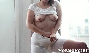 Mormongirlz: mormon milf masturbates with marital-device