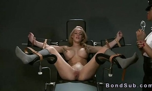 Sluty golden-haired thrall dominated by bitch goddess