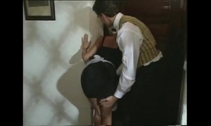 Sexy golden-haired maid acquires turned on and cock downed by coworker