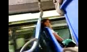 Dick flashing to gripping woman in the bus