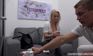 Busty golden-haired seduces her doctor