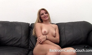 Tall smart blond painful anal and creampie casting