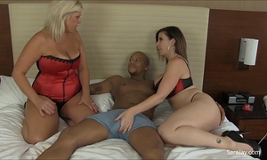 Big tit cougars sara jay and carey try out fresh dark shlong