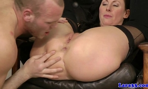 Glamcore british milf floozy eager on dong