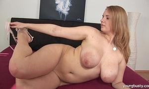 Busty juvenile tiana fuck a big sex toy