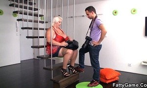 Big zeppelins blond bbw is doggystyled after photosession